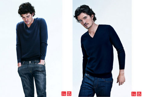 Charlize Theron, Orlando Bloom Ads For Uniqlo