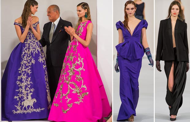 Oscar de la Renta fall 2013 collection with Galliano