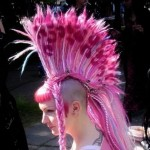 outstanding pink mohawk