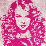 outstanding Taylor Swift candy portrait by Jason Mecier