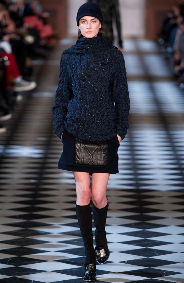 oversized sweater mini skirt Tommy Hilfiger Fall 2013 collection