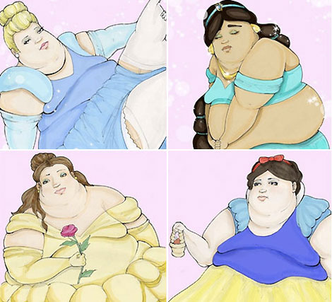 Overweight Disney princesses Aly Bellissimo