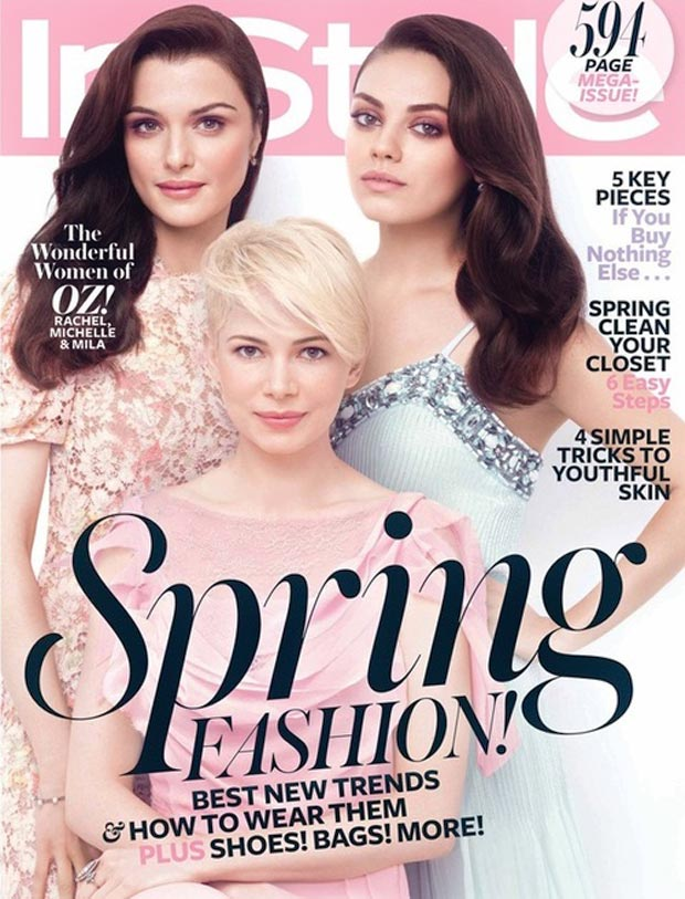 oz witches Rachel Weisz Mila Kunis Michelle Williams InStyle