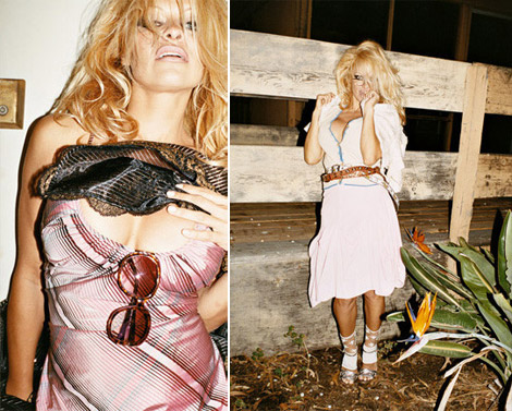 Pamela Anderson For Vivienne Westwood Ad Campaign SS09 By Juergen Teller