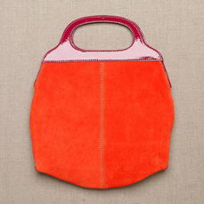 The Panama Orange Bag in Suede JCrew