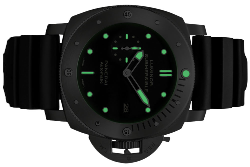 Panerai Luminor 3 days submersible 1950 watch night