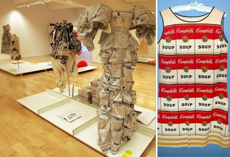 Paper Dress Warhol Campbell Soup