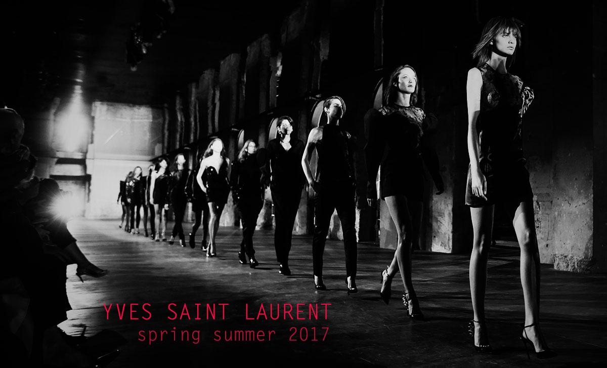 paris fashion week ysl vaccaarello