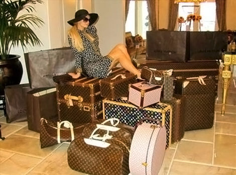 Paris Hilton Louis Vuitton Luggage