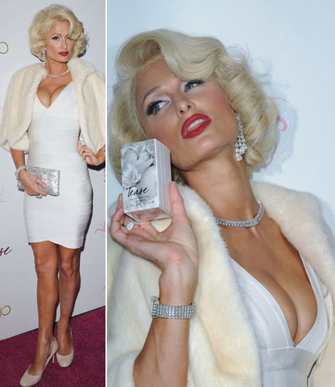 Paris Does Marilyn Monroe For Tease Perfume Launch