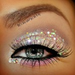 party makeup glitter eyes