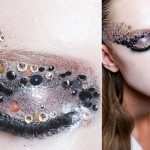 party makeup sequins Dior catwalk
