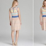 pastel stripes knit dress