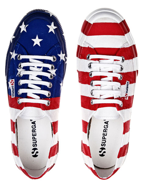 patriotic sneakers Superga