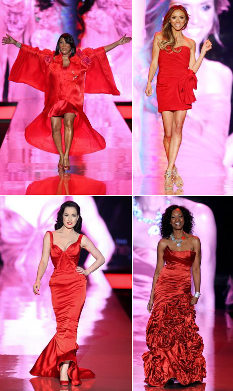 Hearth Truth Stars Wear Red On The Catwalk