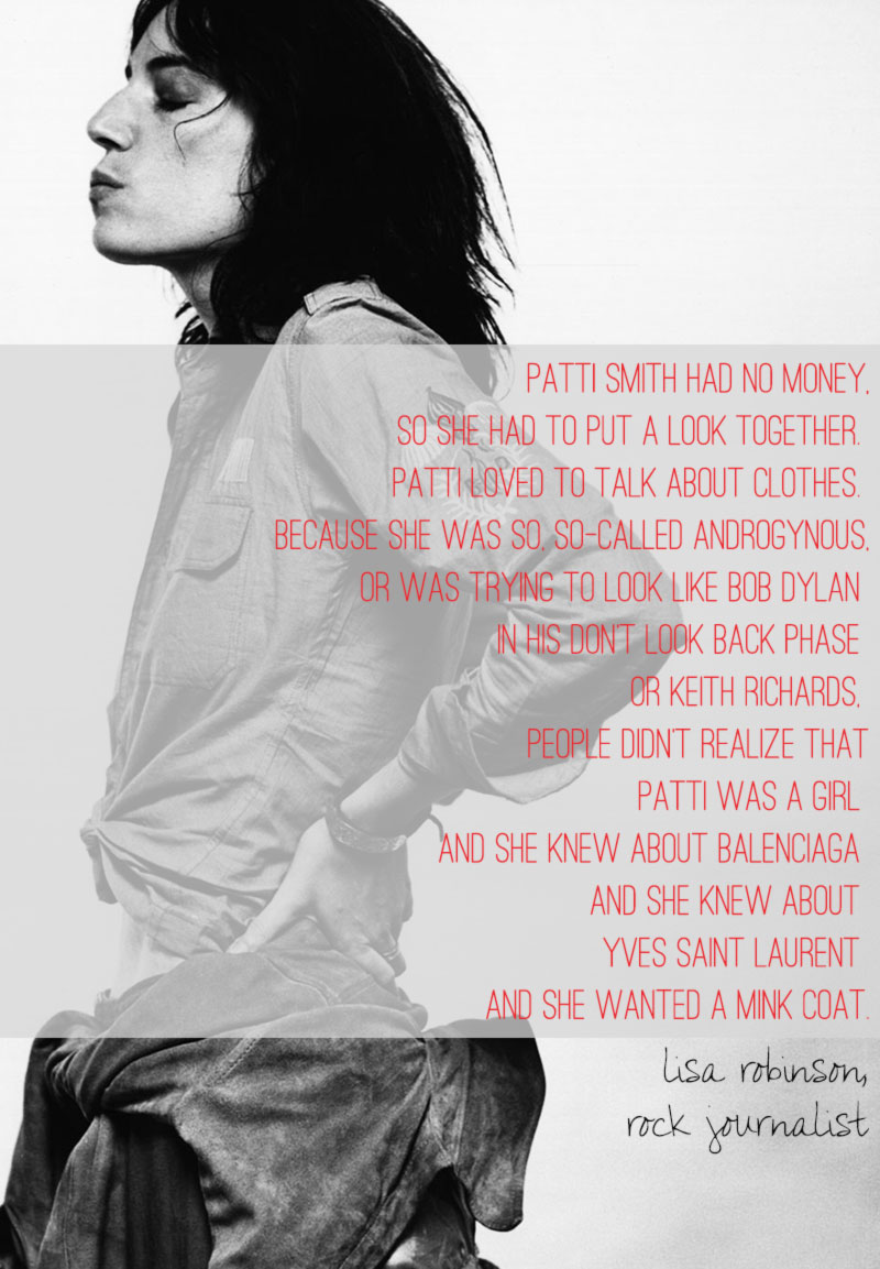 Patti Smith fashionista