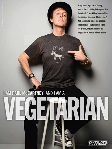 Paul McCartney Peta Advertising Campaign