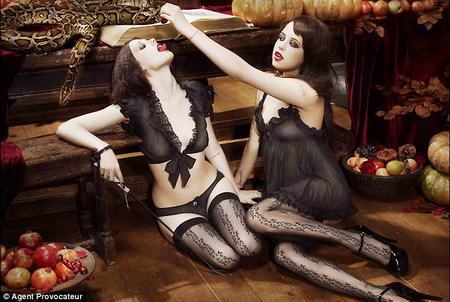 Peaches Geldof Agent Provocateur Season of the Witch Ad Campaign