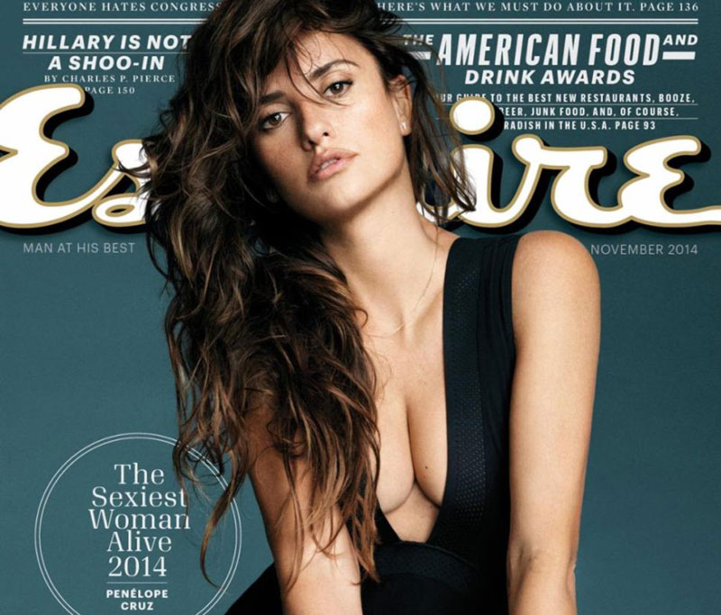 Penelope Cruz cleavage cover Esquire