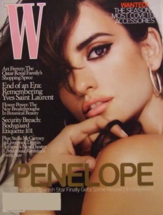 Penelope Cruz for W Magazine August 2008 cover
