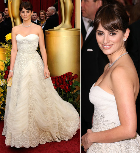 Penelope Cruz Pierre Balmain dress Oscars 2009