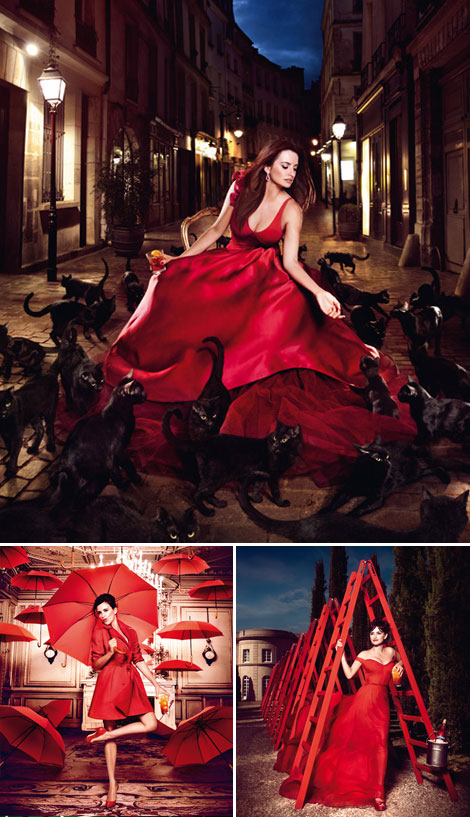 Penelope Cruz red hot Campari 2013 calendar
