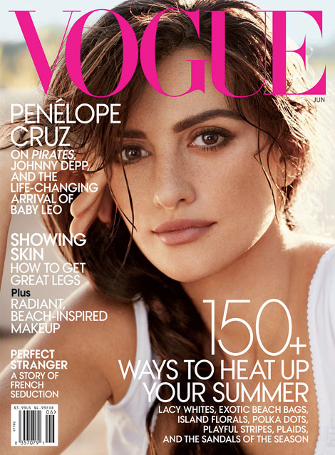Penelope Cruz Vogue June 2011 cover