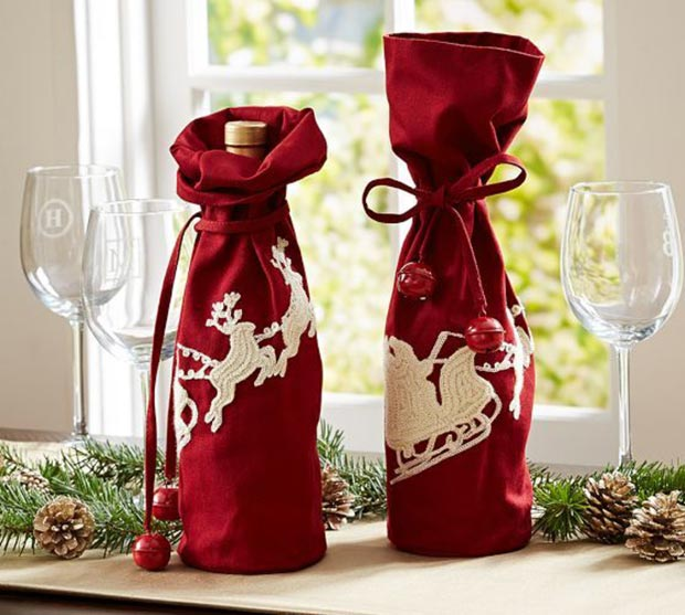 perfect Christmas gift wrapped bottles