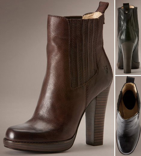 perfect fall booties Frye Donna Chelsea