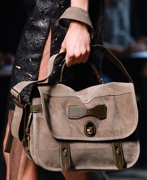 perfect suede messenger bag from Loewe Spring 2013