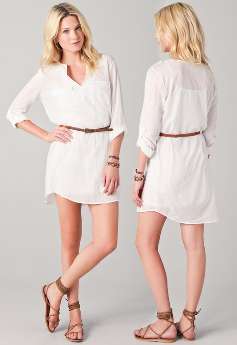 perfect white shirt dress