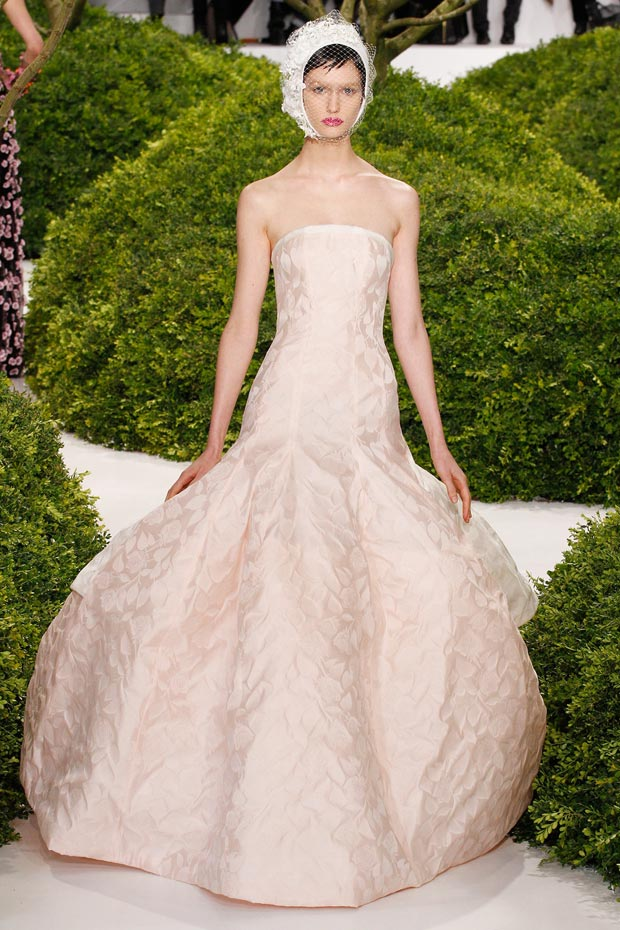 petals dress Dior Couture Spring 2013 collection