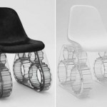 Pharrell Tank Chair Black White