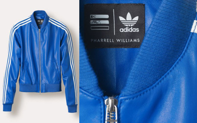 pharrell adidas collection jacket blue