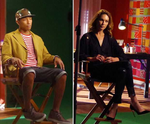 Pharrell Williams Erin Wasson Fashion TV Show Styled to Rock