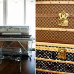Pharell Williams home Vuitton trunks