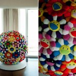 Pharell Williams home giant Murakami ball