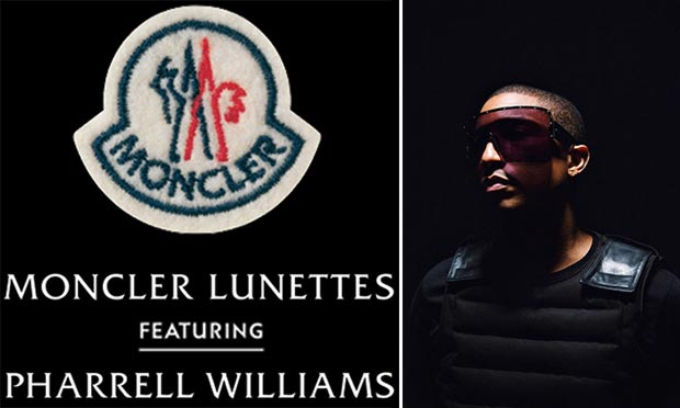 Pharrell Williams sunglasses for Moncler