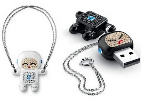 Philips and Swarovski USB Flash Drive Black and White