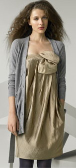 Phillip Lim Orchid Strapless Dress Grey Cardigan - StyleFrizz ...