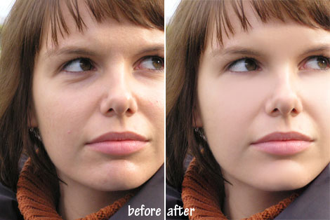 Photoshop retouching before after