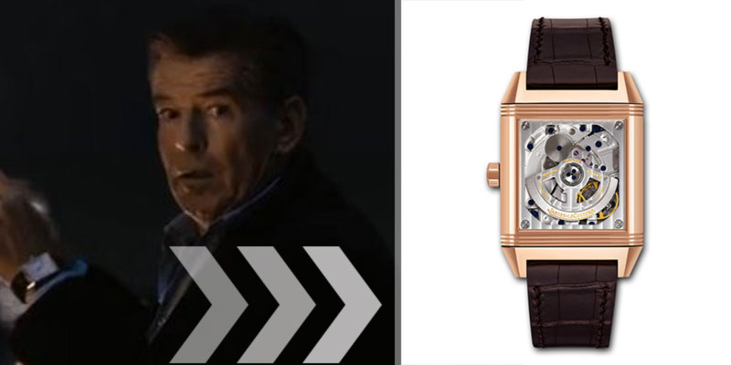 Pierce Brosnan watch A Long Way Down movie Jaeger LeCoultre Reverso