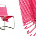 Pink coat check chair