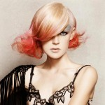 pink gradient bob hairstyle
