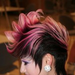 pink gradient punk hairstyle