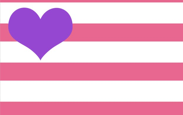 pink stripes purple colors combo