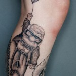 Pixar Up tattoo