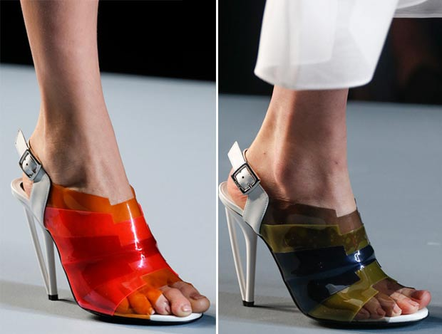 plastic sandals Fendi Spring Summer 2014
