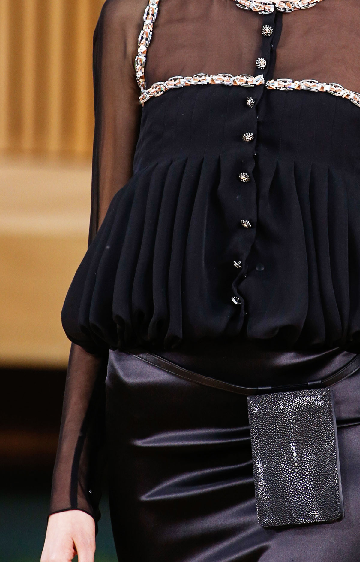 pleated blouse Chanel Couture Spring 2016