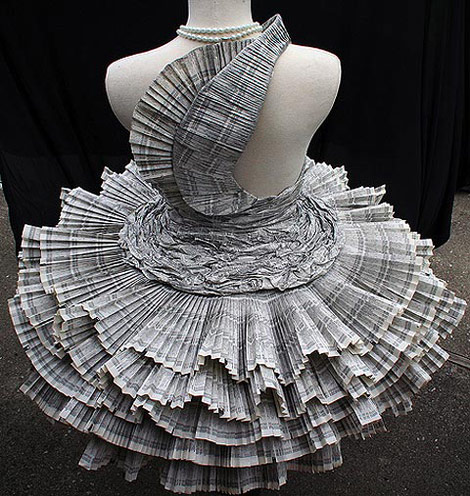 Pleated Paper dress Jolis Paons